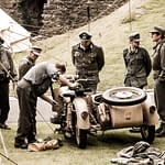 Dover Castle - Soldiers Repairing Bike