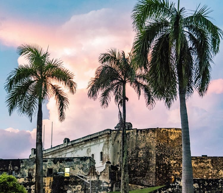 Sunset Over Castillo de San Cristóbal Puerto Rico