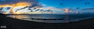 Cabarete Beach Sunset Panorama