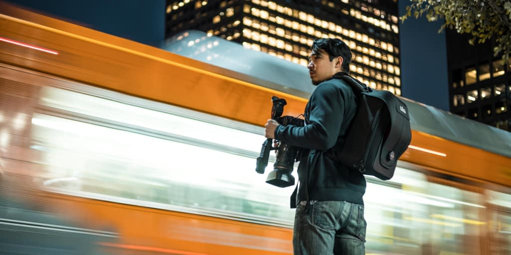 Teradek Bond Backpack in Use