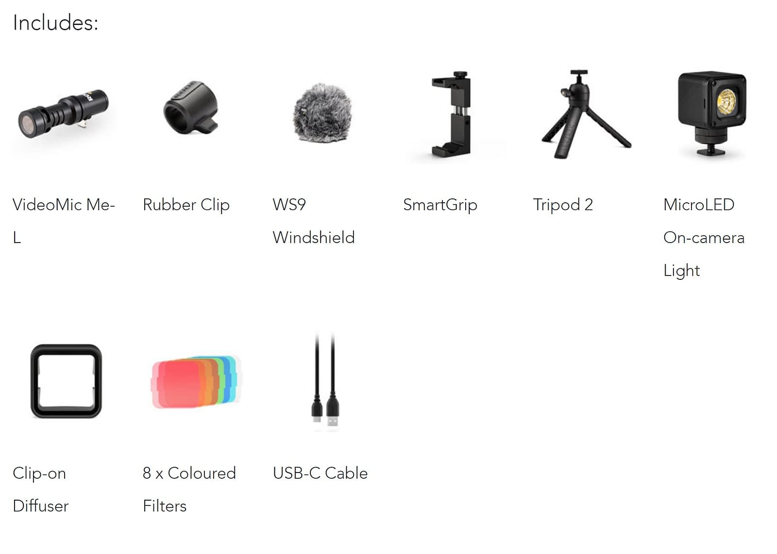RODE VLOGGER KIT iOS in the Box