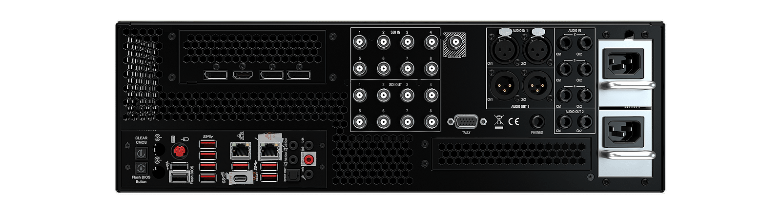 TriCaster 2 Elite Rear Connections - Web