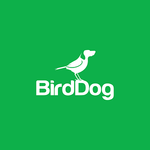 Birddog Logo on Green