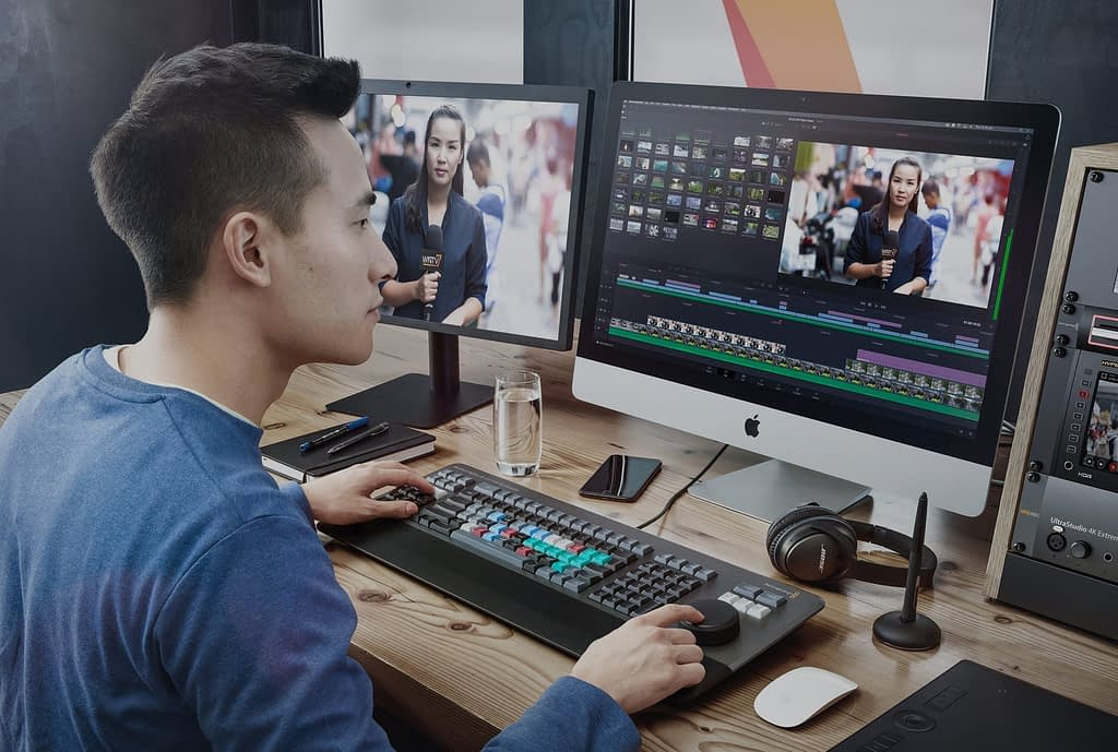 DaVinci Resolve Editor Keyboard and Editor