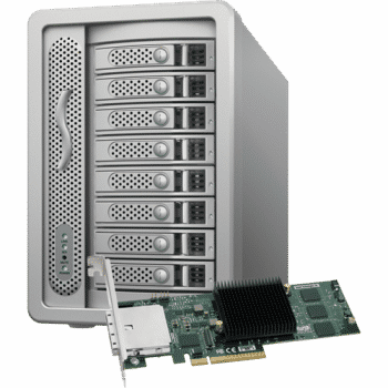 Sonnet Technologies DX800RAID with PCIe SAS RAID Card