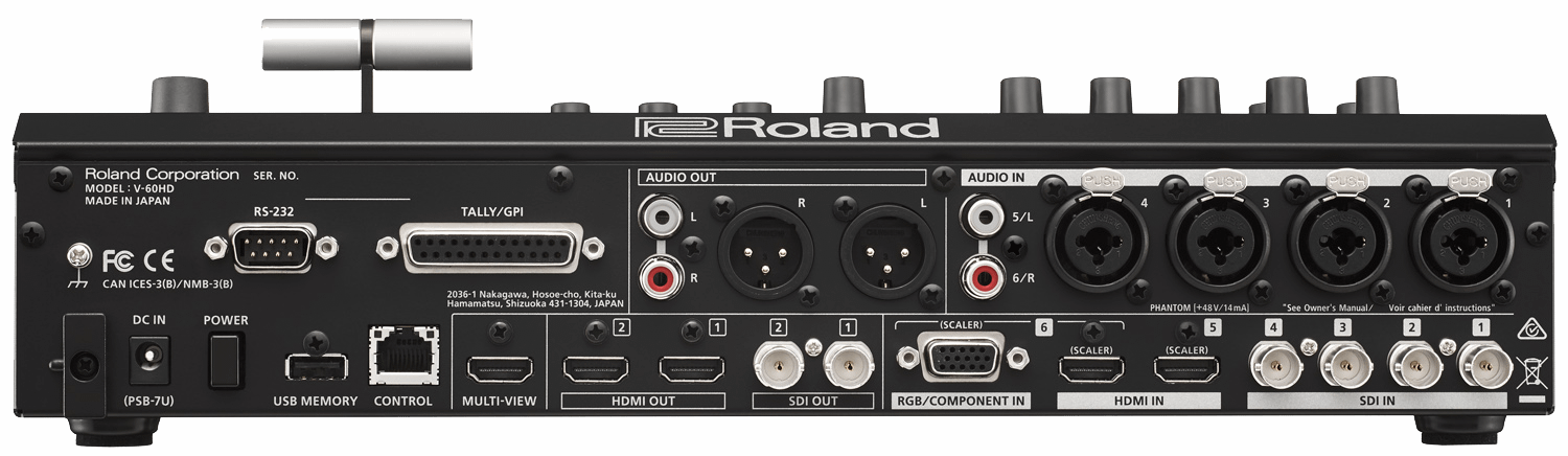 Roland V-60HD Connections