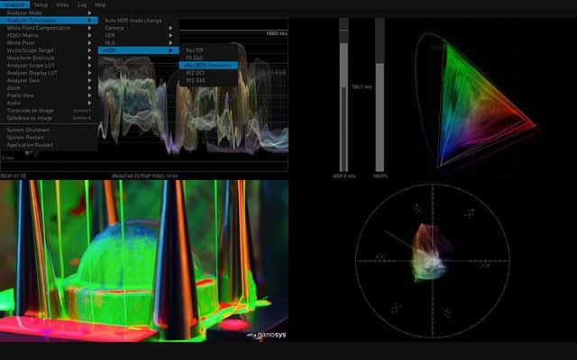 AJA HDR Image Analyzer 12G Color Space