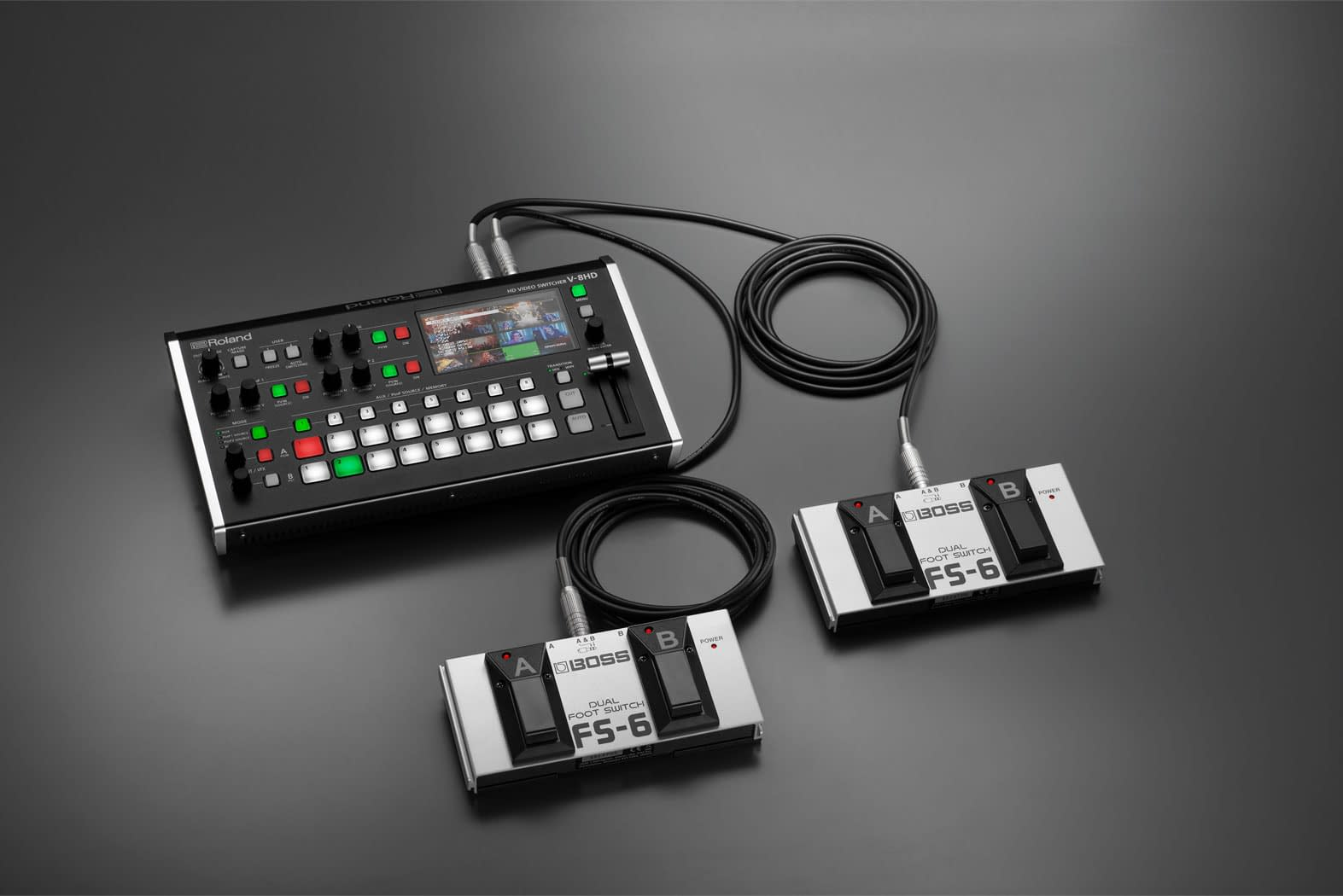 Roland V-8HD FS-6 Pedal Switching