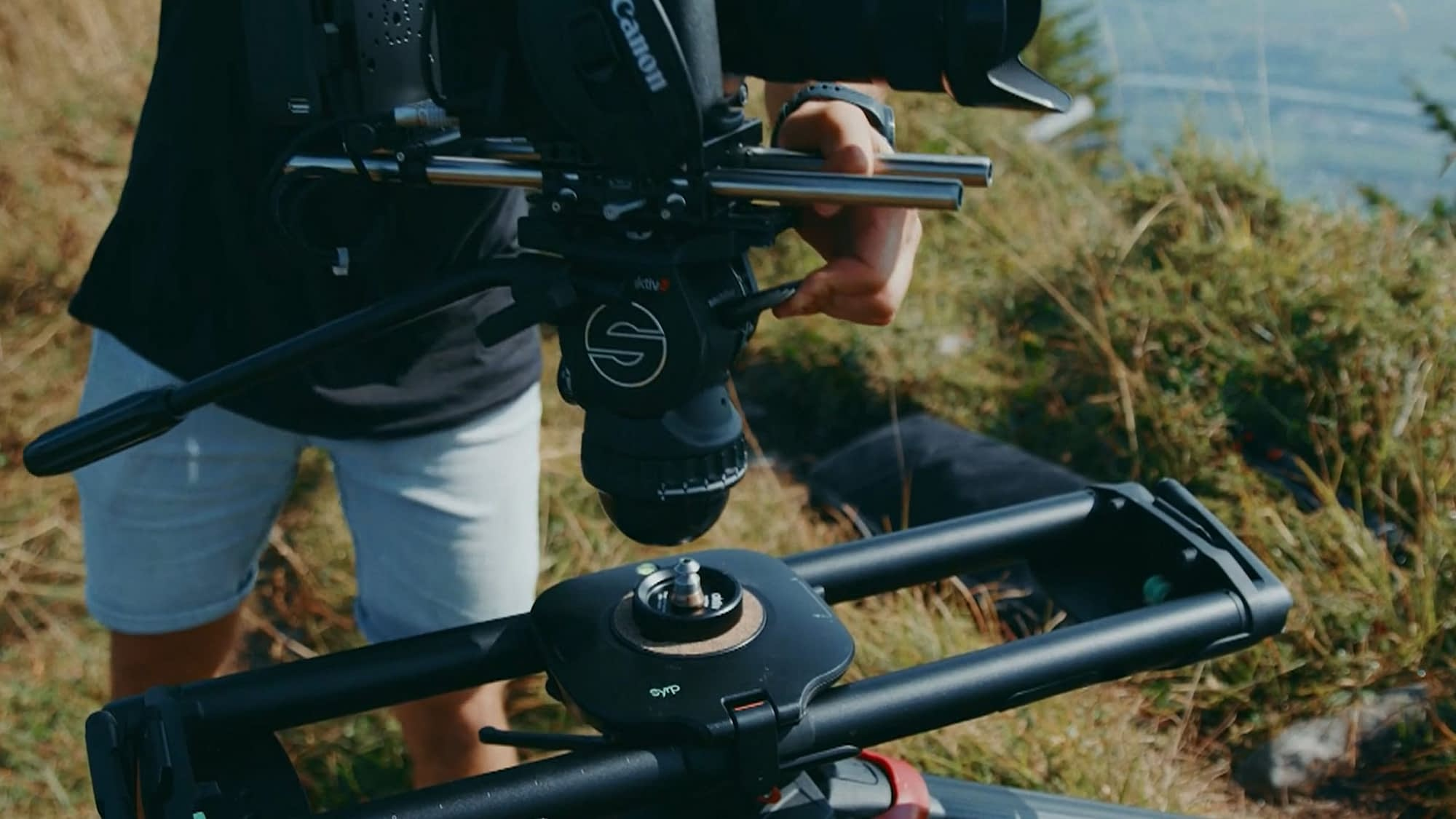 Sachtler Aktiv and Syrp Slider