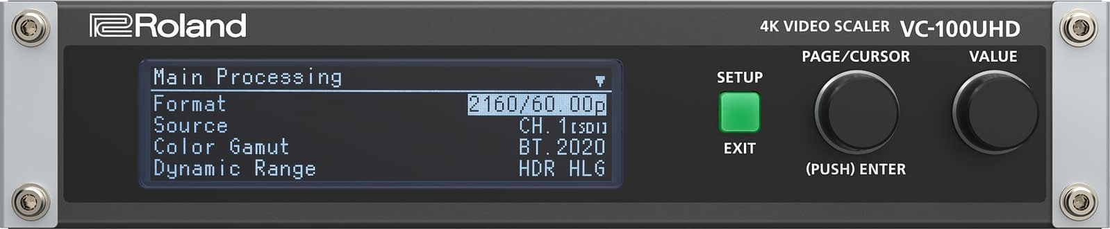 Roland VC-100UHD Front Panel