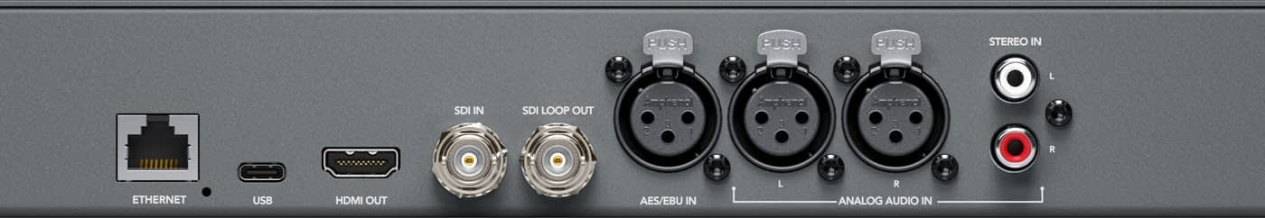 Blackmagic Audio Monitor 12G Connections