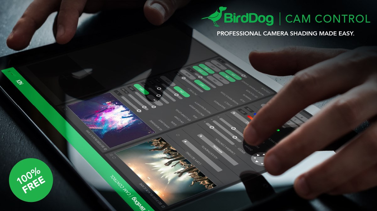 Cam Control works with all BirdDog Cameras and gives remote access to all shading and camera controls