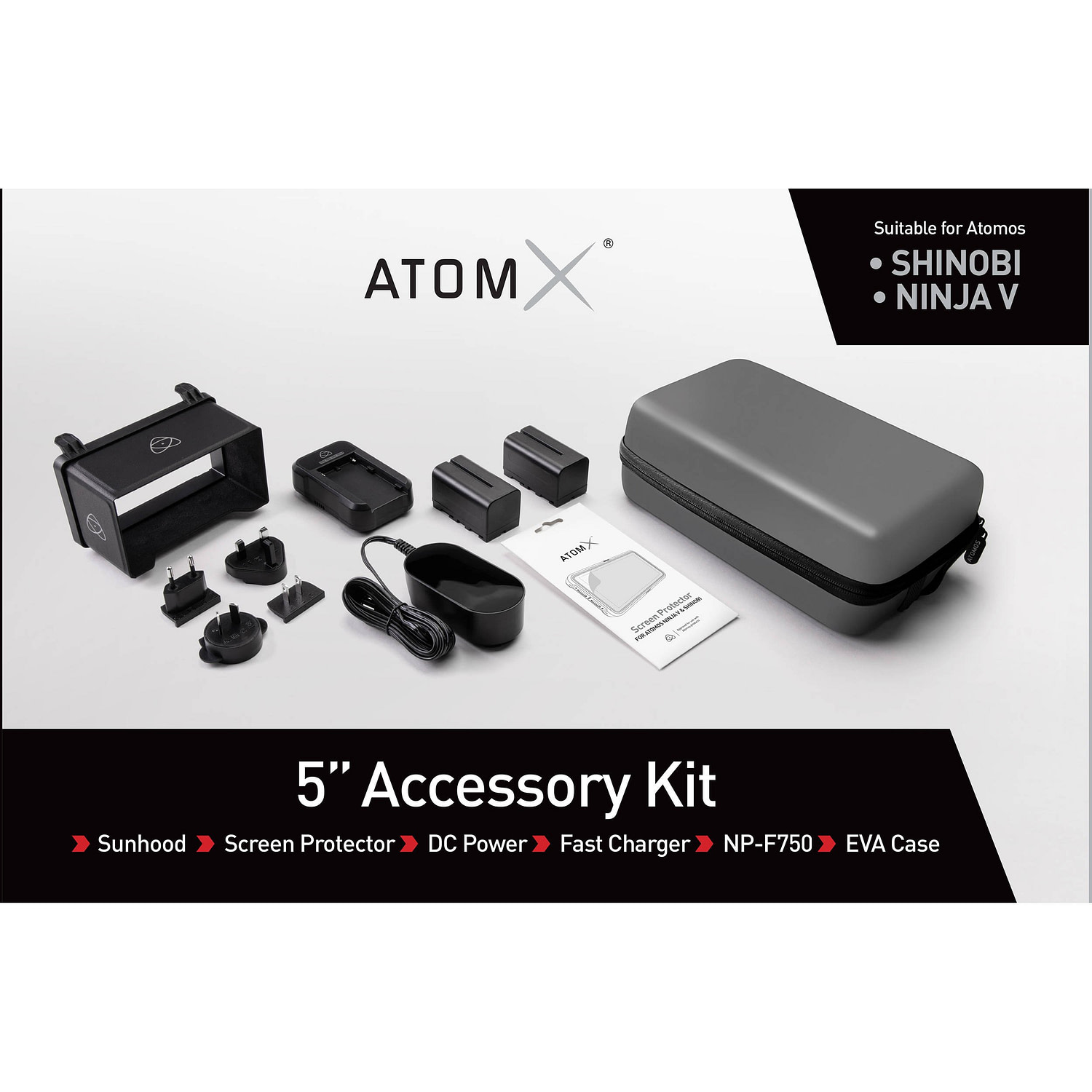 Atomos 5in Accessory Kit Packaging