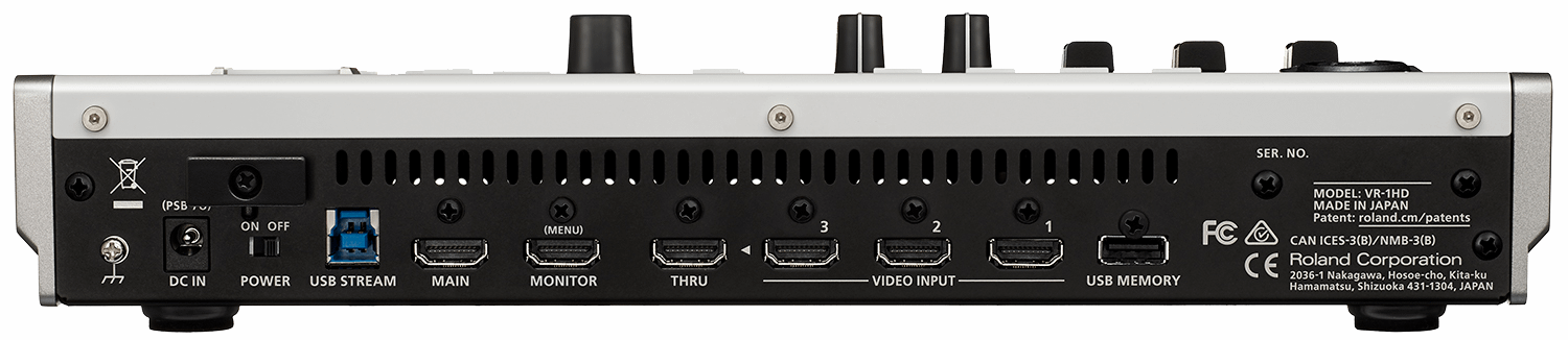 Roland VR-1HD Rear Connections