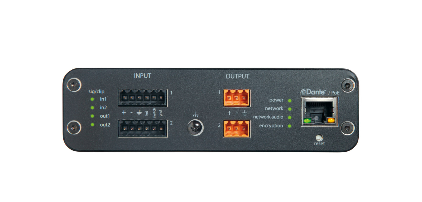 Shure Audio Network Interface ANI22-BLOCK - Front