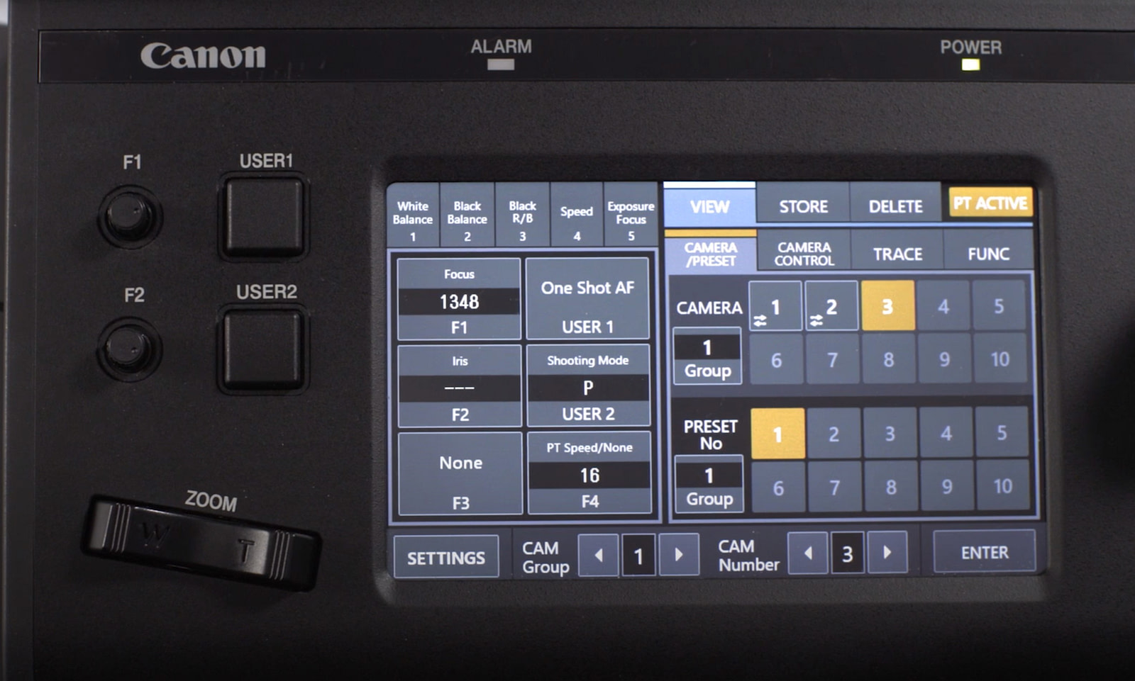 Canon RC-IP100 - Screen and Buttons