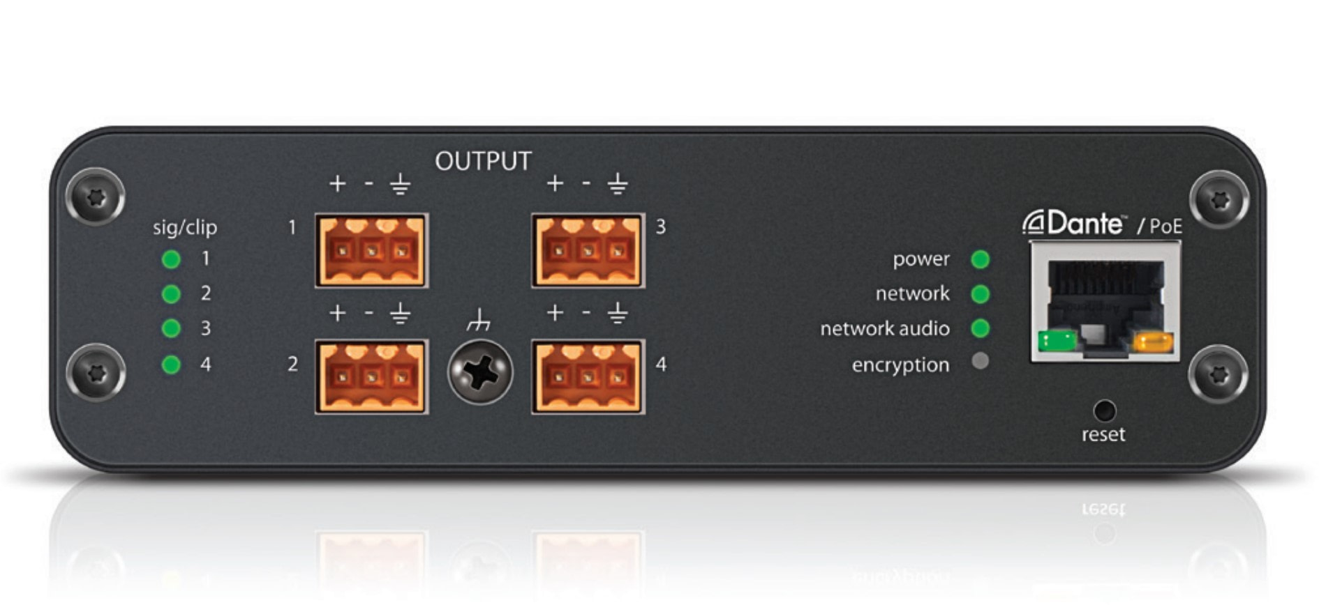 Shure Audio Network Interface ANI4OUT-BLOCK - Front