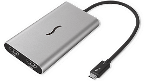 Sonnet Thunderbolt 3 to Dual HDMI 2.0 Adaptor