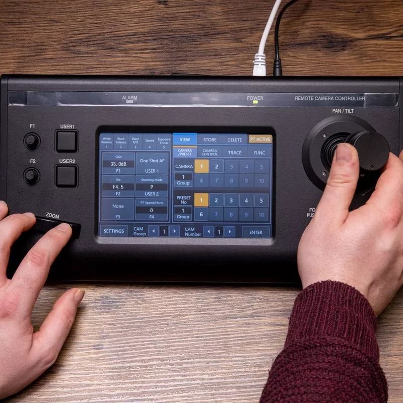 Canon RC-IP100 Controller in Use